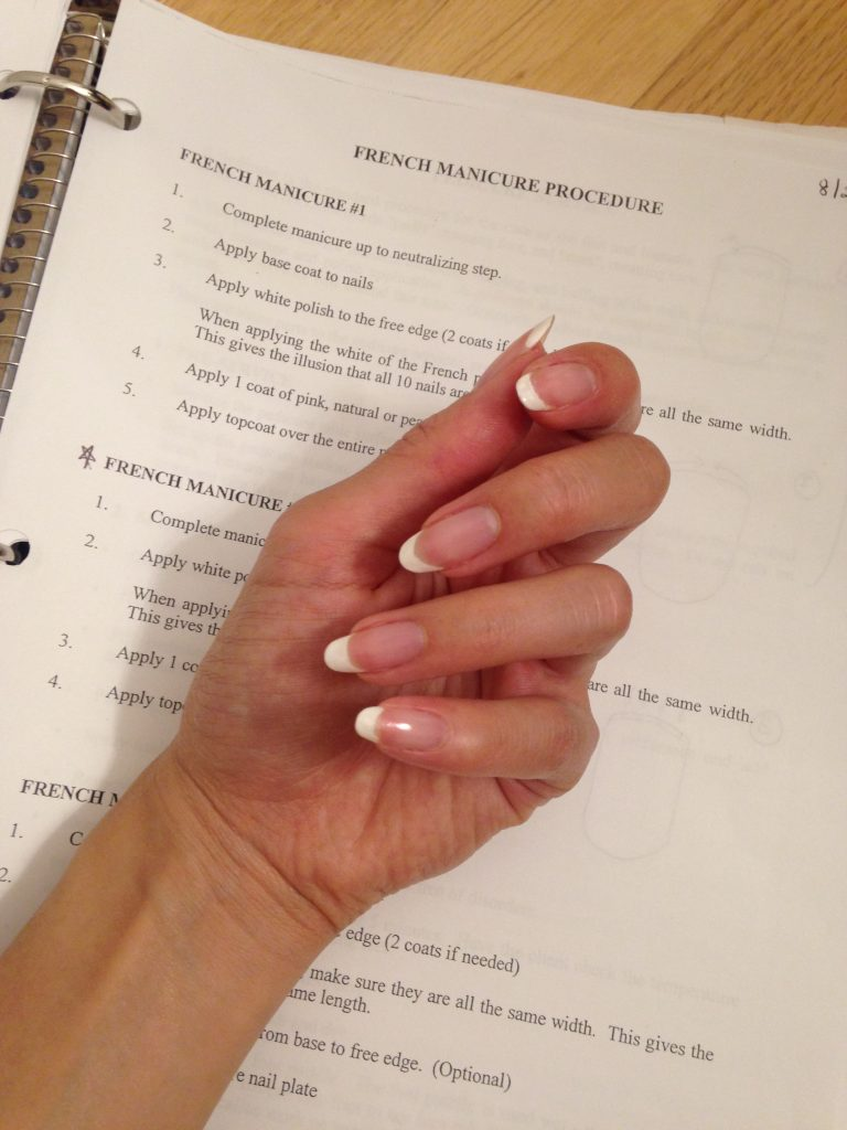 French Manicure done by my lovely classmate :)